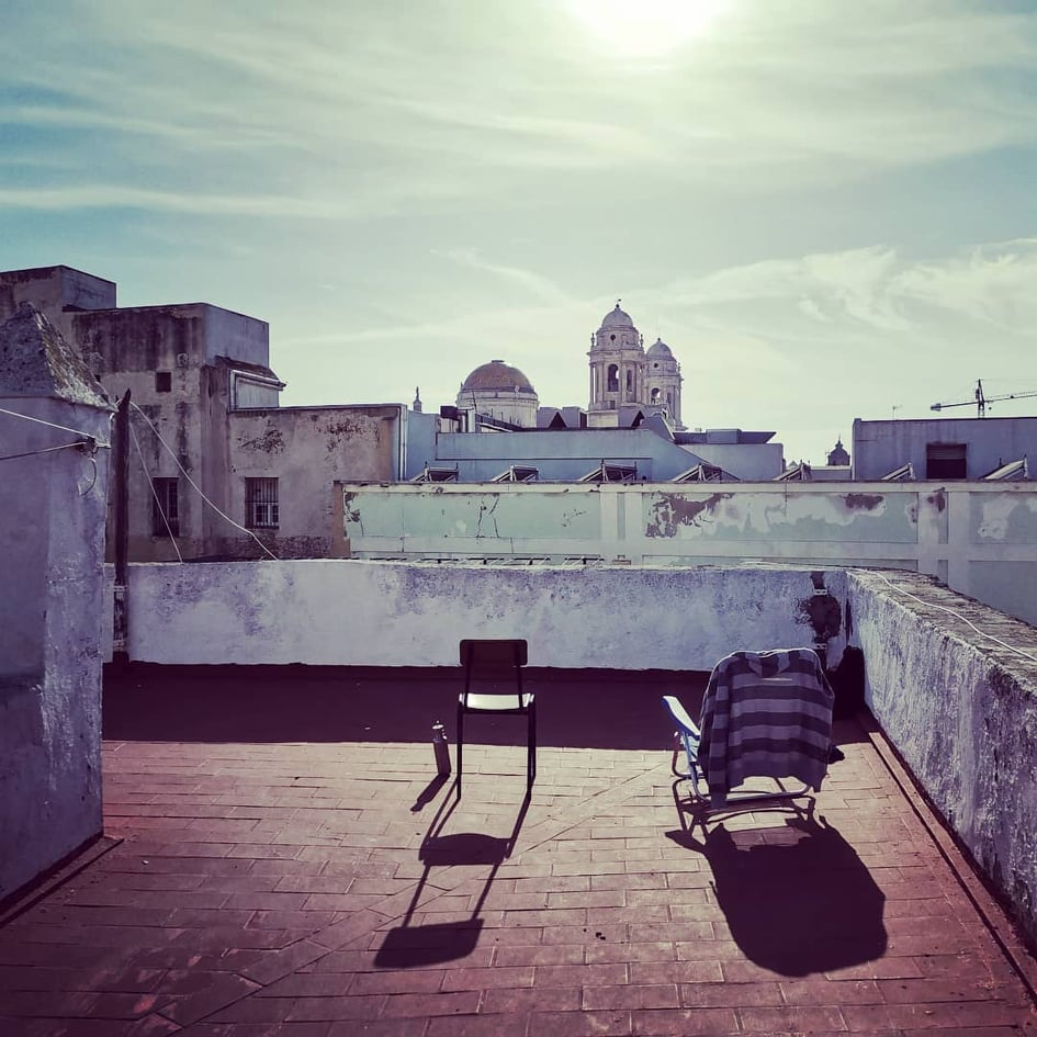 One of the many roof tops in Cádiz